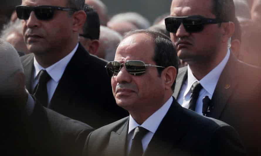 Egyptian president Abdel Fatah al-Sisi.