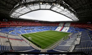 The stadium in Lyon which will host the semi-finals and final of the Women's World Cup.