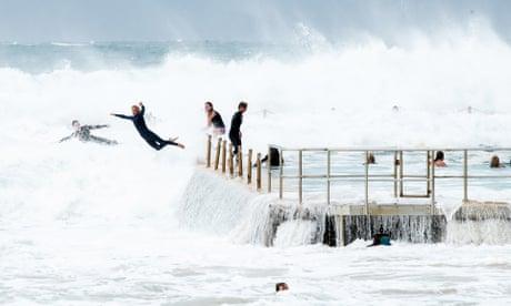 Surfers brave monster waves as 10-metre swells lash Sydney's coastline – in pictures