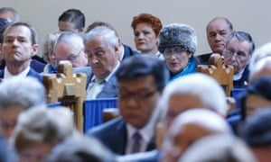 Pauline Hanson at a special ecumenical service in Canberra before the opening of the 45th parliament