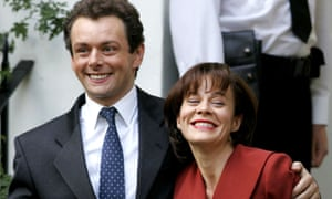 Michael Sheen as Tony Blair with Helen McCrory as Cherie on set in 2005's The Queen.
