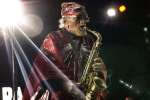 New York, US: Sun Ra Arkestra performs at the SummerStage in Central Park