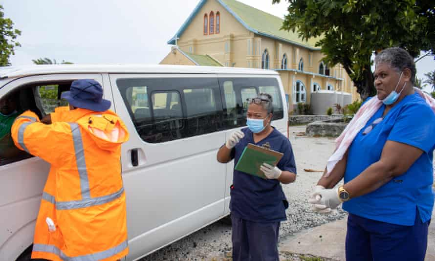The territory's medical workforce is made up of three doctors and 36 nurses, who had to be trained to administer the vaccine over Zoom, a challenge given the atoll's notoriously bad internet connection.