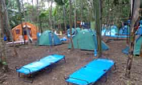 """A BGP fly camp in the Bolivian Amazon where company teams have reportedly had near encounters with indigenous people in """"isolation."""""""