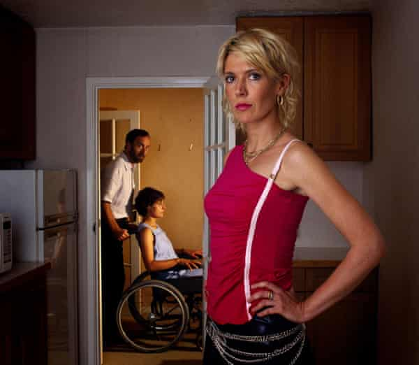 Sad, lonely characters … Julia Davis with Angus Deayton and Rebecca Front in Nighty Night.