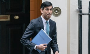 Rishi Sunak leaves No 11 Downing Street to deliver his spending review