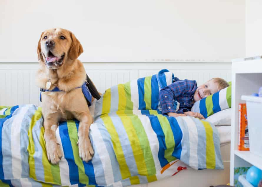 Cohen and his autism-assistance dog, Azerley.