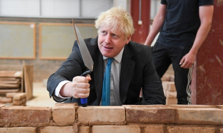 Boris Johnson during his visit to Exeter College.