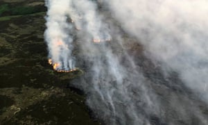 Fire swept across the moors in north-west England in June last year.