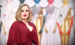 Adele at the BRIT Awards 2016.