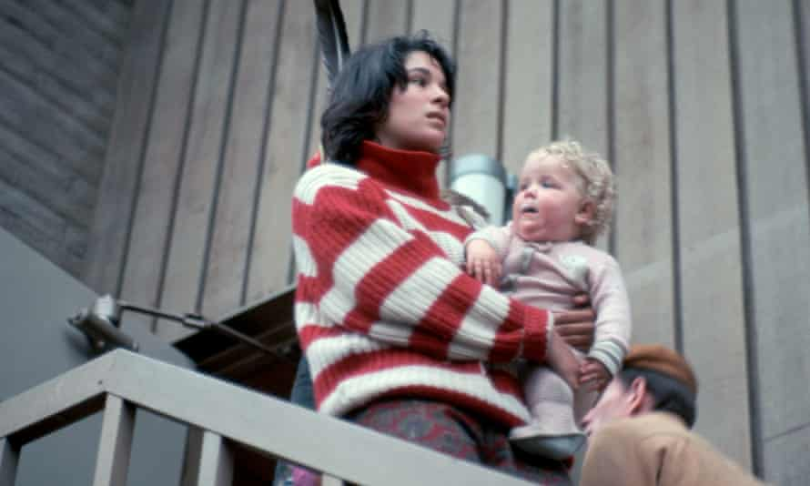 In the groove: Carolyn Garcia, second wife of Jerry Garcia of the Grateful Dead, holds her daughter Sunshine.