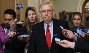 'Mitch McConnell, the Republican Senate majority leader, has been content to do Trump's bidding, twice blocking Democratic bills to reopen the government.'