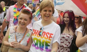 Nicola Sturgeon at Pride