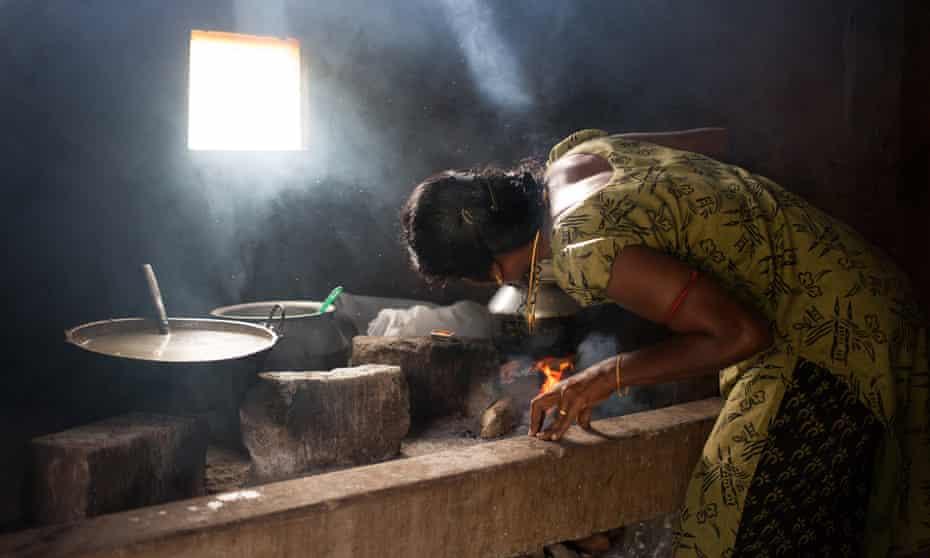 A woman cooks in Vavuniya, in the Northern Province of Sri Lanka.