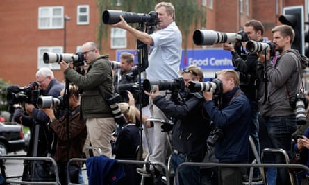 Press photographers at work - but beware of copyright.