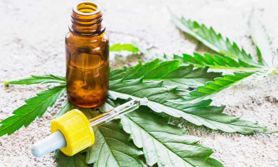 Cannabis - Marijuana oil extracts in jars and leaves for treatment