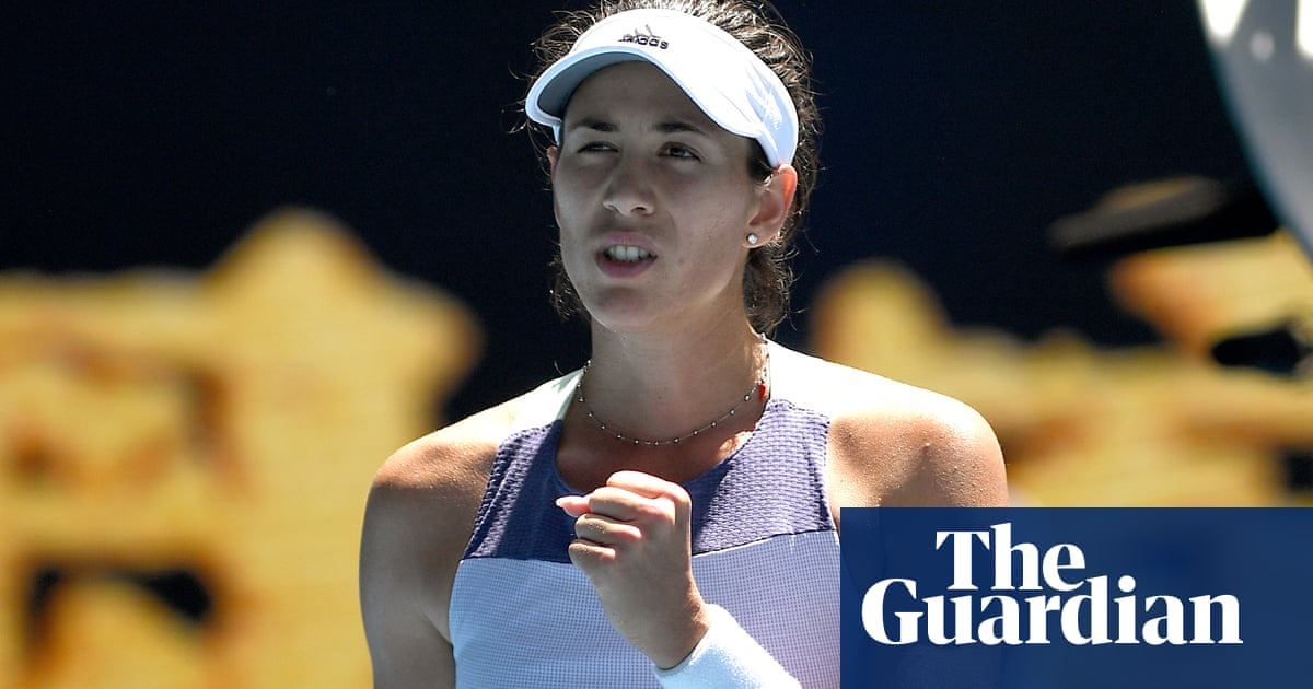 Garbiñe Muguruza sets up Australian Open semi-final with Simona Halep