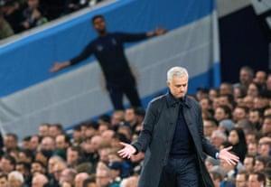 A frustrated Jose Mourinho.
