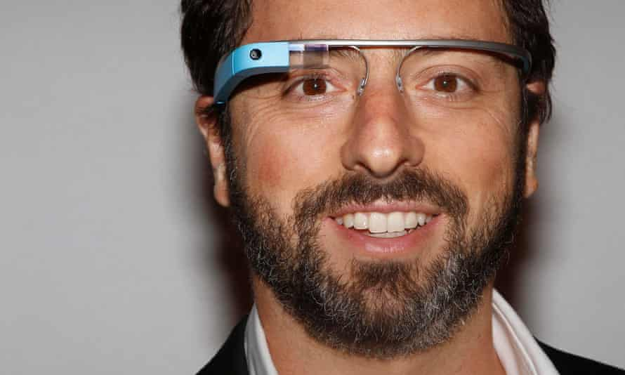 Google founder, Sergey Brin, wearing a Google Glass.