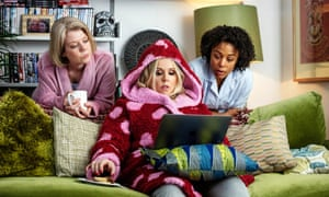 An embarrassment of daftness ... Caroline Ginty, Roisin Conaty and Nina Toussaint-White in GameFace.