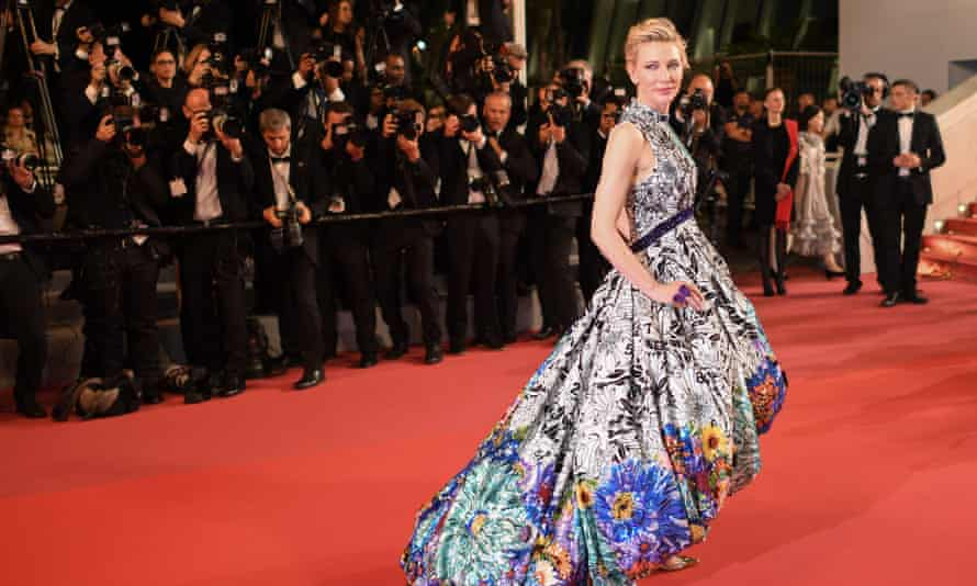 Cate Blanchett at the Cannes screening of Paweł Pawlikowski's Cold War last year.