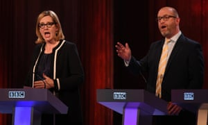 Amber Rudd and Paul Nuttall in the BBC election debate, May 2017