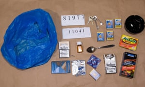 Sedatives, condoms and a heavy ashtray belonging to John Worboys seized by police after his arrest.