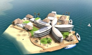 Polynesian flower island concept for the Seasteading Institute.