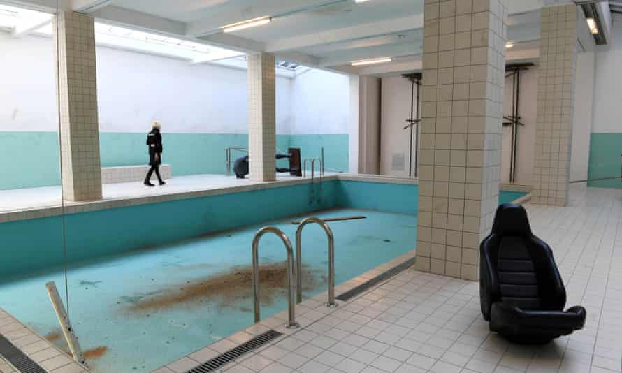 Michael Elmgreen and Ingar Dragset's installation of the Whitechapel pool at Whitechapel Gallery in London.