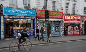Fried chicken shops and takeaways in london