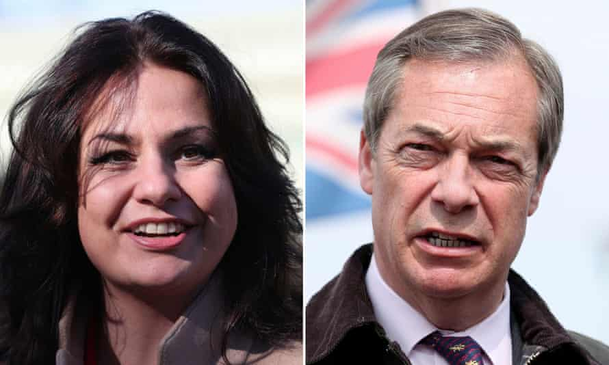 Heidi Allen and Nigel Farage