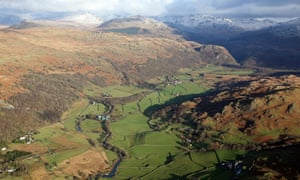 Aerial view of the Duddon valley, Lake District
