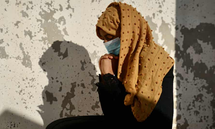 Salwa, a 14-year-old victim of sexual violence, at the UN compound in Turba, Yemen.