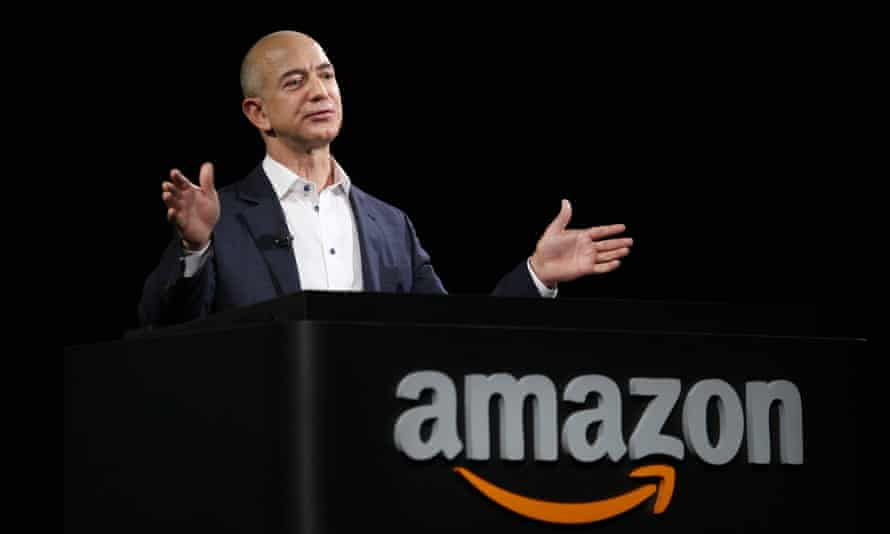 Donald Trump accused Amazon, headed by Jeff Bezos, of hurting 'towns, cities and states throughout the US'.
