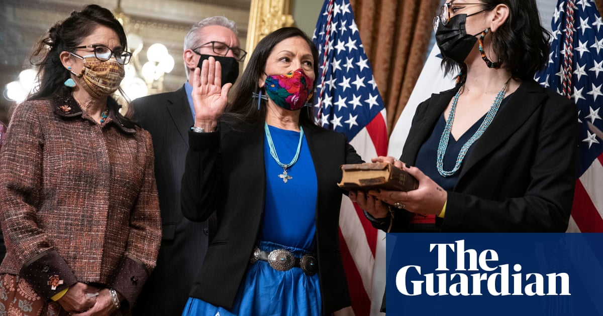 'A bold agenda': hopes rise for US climate change reversal as Deb Haaland sworn in
