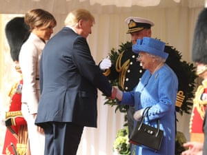 The Queen greets Donald and Melania Trump