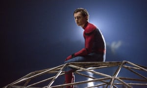 View from the top … Tom Holland in Spider-Man: Homecoming, which took almost £10m at UK cinemas.