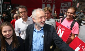 Jeremy Corbyn arrives at a student voter rally at the Casa bar in Liverpool.