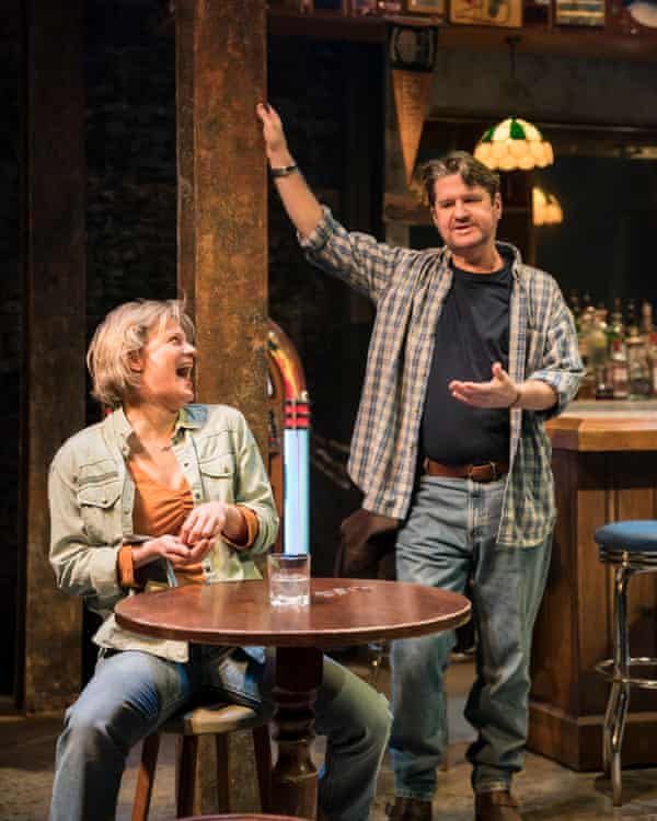 Stuart McQuarrie and Martha Plimpton in Sweat at the Donmar Warehouse, directed by Lynette Linton.