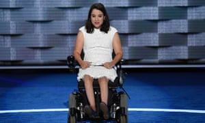 Anastasia Somoza speaks during Day 1 of the Democratic National Convention at the Wells Fargo Center in Philadelphia, Pennsylvania, July 25, 2016.
