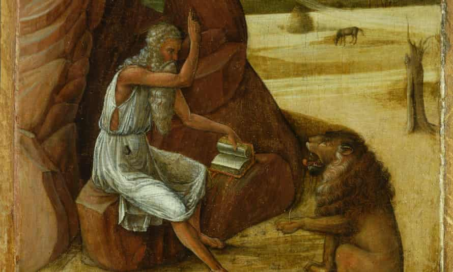 Saint Jerome in the Wilderness, c.1450, Giovanni Bellini (1430/35- 1516)