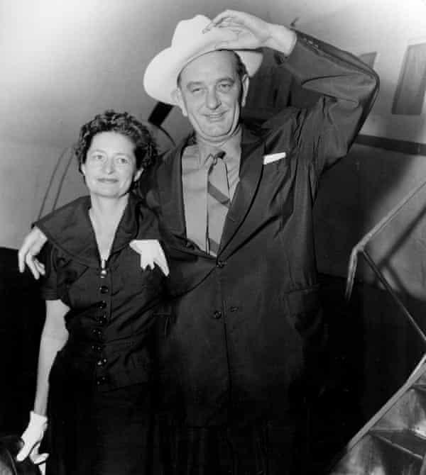 Lady Bird and Lyndon Johnson in 1955.
