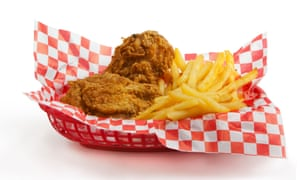 Fried chicken must be eaten with french fries and nothing but.