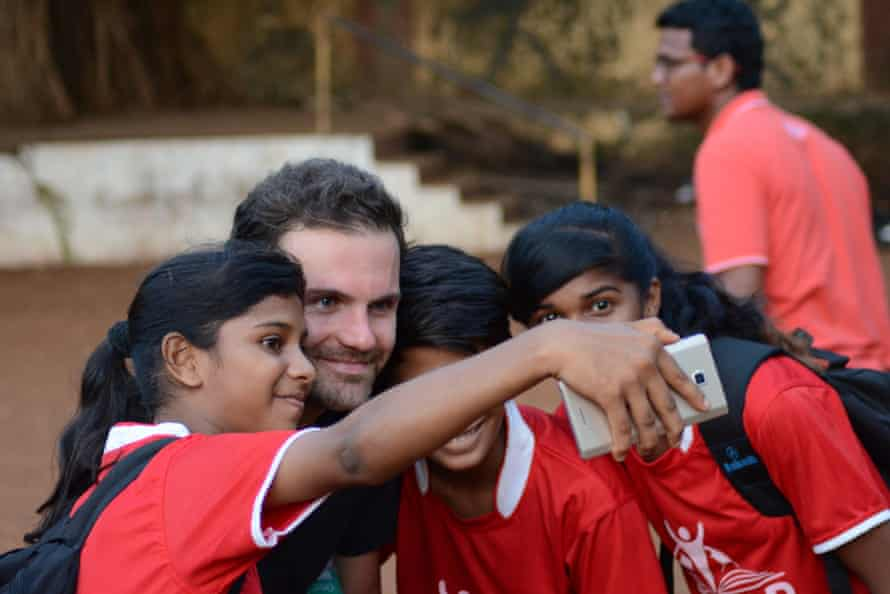 Juan Mata with some of his fans.