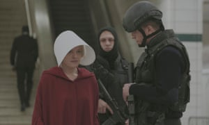 'Moira, you wouldn't stand for this shit' … Offred tries to light a fire under her own arse.