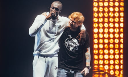 Brixton boys: Stormzy at the O2 Academy Brixton with Ed Sheeran, 2017.