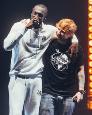 'Sheeran dabbles in genres just as pop fans do, leaving no stone unturned' ... Sheeran and Stormzy.