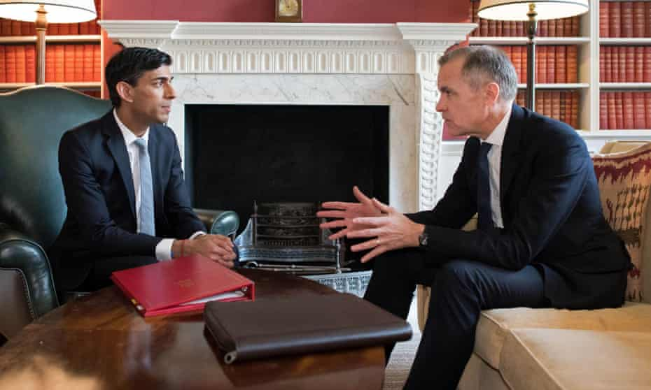 Mark Carney and Rishi Sunak in Downing Street before last year's budget
