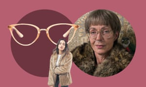 Glasses,£45, Quay Australia; Lavona Golden from I, Tonya; faux fur coat,£65, Asos