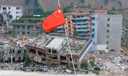 Devastation in Sichuan, which Ai Weiwei blamed on government negligence.